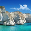 Greek holidays - beautiful island Milos - Stock Photo