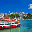 Pictorial harbors of small greek islands - Skopelos - Stock Photo