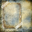 Decorative retro background with blank frame - Stock Photo