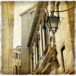 Venetian streets - artistic picture in retro style - Stock Photo