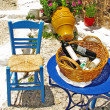 Stock Photo: Traditional Greece series - street tavernas