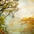 Autumn - artwork in painting style — Foto de Stock