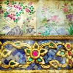 Thai style retro background — Stock Photo