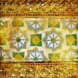 Vintage thai style golden background - Stock Photo