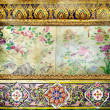 Decorative vintage background in thai style with place for text — Stock Photo