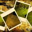 Grunge background with instant photo frames — Stock Photo