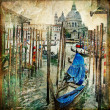 Beautiful Venice - artwork in painting style - Stock Photo