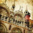 San Marco square - artwork in painting style — Stock Photo