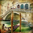 Colors of Venice - artwork in painting style from my italian series — Stock Photo