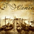 Venetian pictures - artwork in retro style - Stock Photo