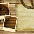 Vintage background with instant frames - Stock Photo