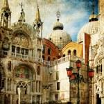 καταπληκτικό Βενετία - Ζωγραφική στυλ σειρά - san marco πλατεία — Φωτογραφία Αρχείου