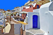 Santorini - traditional cycladic architecture — Stock Photo