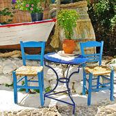 Traditional Greece, colored tavernas — Stock Photo