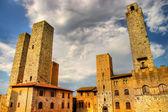 Pohled z věže san gimignano - středověké město toskánska — Stock fotografie