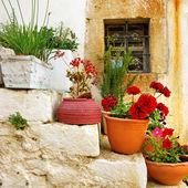 Traditional Greece series - village — Stock Photo