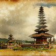 Balinese temple - artwork in retro style - Photo