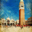 Venice - great italian landmarks vintage series -San marco square - Photo