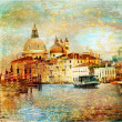 Stock Photo: Mystery of Venice - artwork in painting style