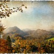 Autumn vista - artistic retro picture - Stock Photo