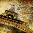 Foto Stock: Autumn in Paris - artistic picture