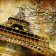 Autumn in Paris - artistic picture - Stock Photo