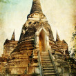 Ancient temple in Ayutthaya — Stock Photo #12820273