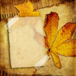 Stock Photo: Vintage photo album series -autumn