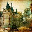Stock Photo: Castles of France - vintage series