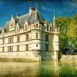 castelli di Francia - serie vintage — Foto Stock