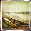 Old boat- artistic retro styled picture — Stock Photo