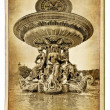 European landmarks - Parisian architecture - vintage cards series — Stock Photo