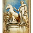 European landmarks series - vintage card- Rome - Stock Photo