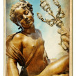 European landmarks series vintage cards - Parisian sculpture — Stock Photo