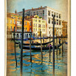 European landmarks series - vintage cards- Venice — Stock Photo