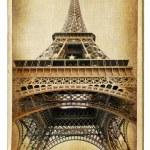 European landmarks-Parisian architecture-vintag e cards series — Stock Photo #12820431