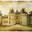 Royalty-Free Stock Photo: Chaumont castle - vintage card