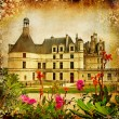 Chambord castle - artistic picture in retro style — Stock Photo