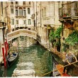 Beautiful channels of Venice- retro styled picture — Stock Photo