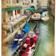 Channels of Venice- retro styled picture — Stock fotografie