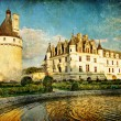 Foto Stock: Chenonceau castle - artwork in painting style