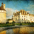 Chenonceau castle - artwork in painting style - Stok fotoğraf