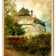 Stock Photo: Chillion castle - painted landmark series