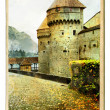 Chillion castle - painted landmark series — Stock Photo #12820524