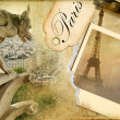 Stock Photo: Parisian memories - vintage photoalbum series