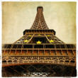Eiffel tower - Parisian details - vintage series - Stok fotoraf