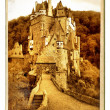 Eltzburg castle - painted landmark series - Stok fotoraf