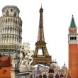 Stock Photo: Europeholidays - travelling background