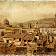 Florence - retro style picture - Stok fotoraf