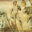 Beautiful Florence -artistic collage - Stok fotoraf
